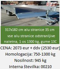"""eno-osna-tovorna-avto-prikolica-8F"""""""