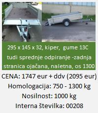 """tovorna-prikolica-naletna-zavora-750ali1300-7H"""""""